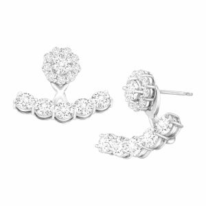 Floater Earrings with Cubic Zirconia