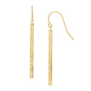 Etched Tube Drop Earrings